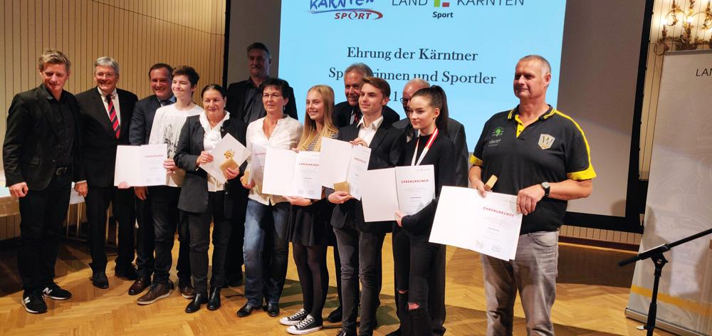 SportlerInnenehrung durch  Landeshauptmann Peter Kaiser