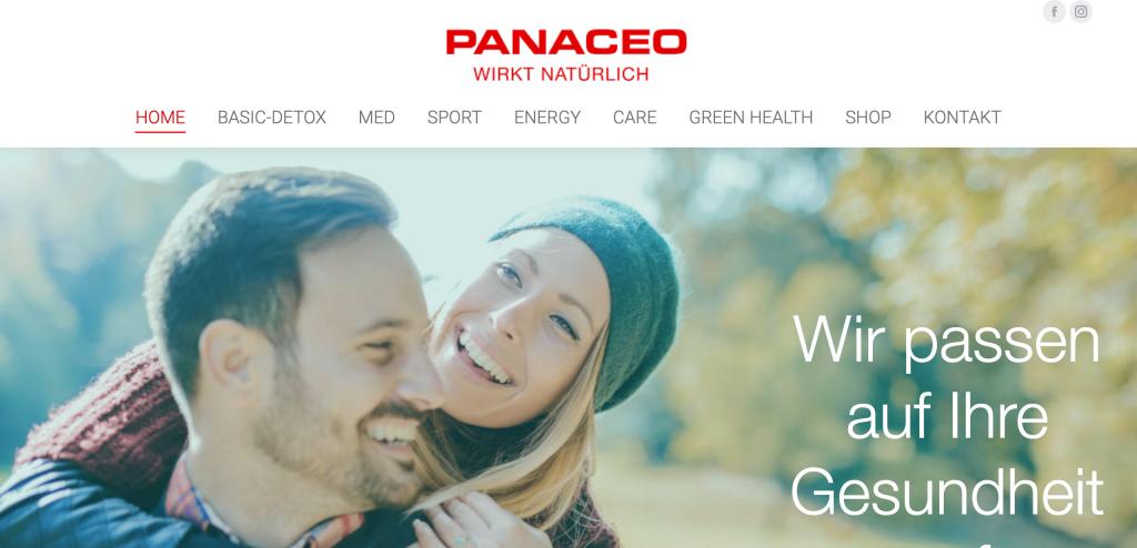Website von Panaceo